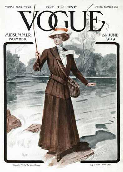 G Howard Hilder Vogue Cover 1909-06-24 Copyright   Vogue Magazine Graphic Art Covers 1902-1958