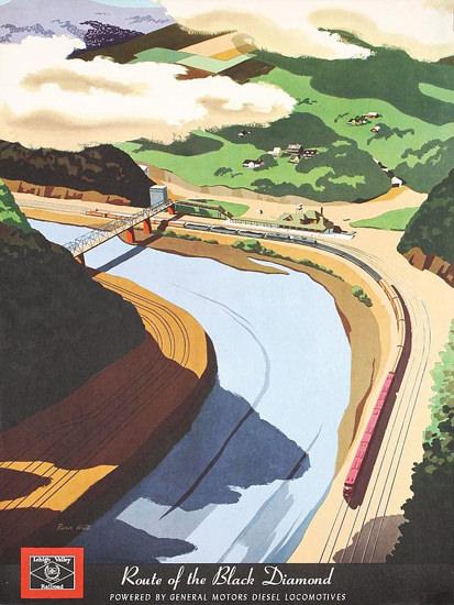 GM Diesel Locomotives Black Diamond 1951 | Vintage Ad and Cover Art 1891-1970