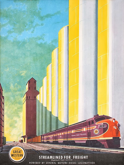GM Diesel Locomotives Great Western 1950s   Vintage Ad and Cover Art 1891-1970