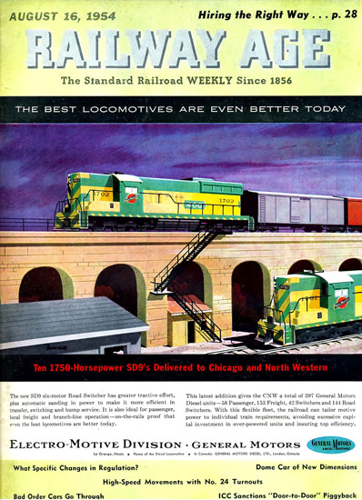 GM Electro LocoMotive 1954 Chicago N Western | Vintage Ad and Cover Art 1891-1970