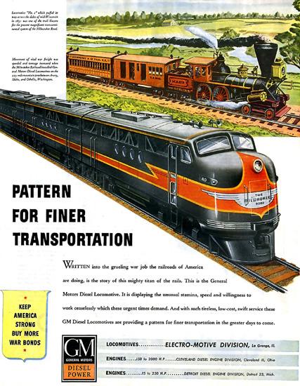GM General Motors Diesel Power Locomotive | Vintage Ad and Cover Art 1891-1970
