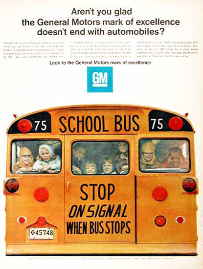 GM General Motors Schoolbus 1967 Stop | Vintage Cars 1891-1970