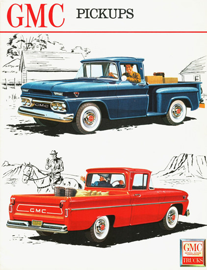 GMC Fenderside And Wide Side Pickups 1962 | Vintage Cars 1891-1970