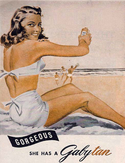 Gaby Tan Beach Girl Has A Gorgeous Gabytan | Sex Appeal Vintage Ads and Covers 1891-1970