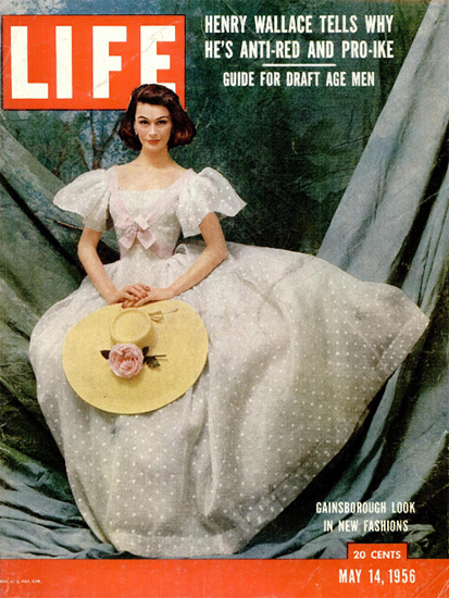 Gainsborough Look in new Fashions 14 May 1956 Copyright Life Magazine   Life Magazine Color Photo Covers 1937-1970