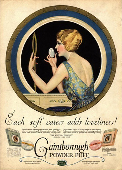 Gainsborough Powder Puff Adds Loveliness | Sex Appeal Vintage Ads and Covers 1891-1970