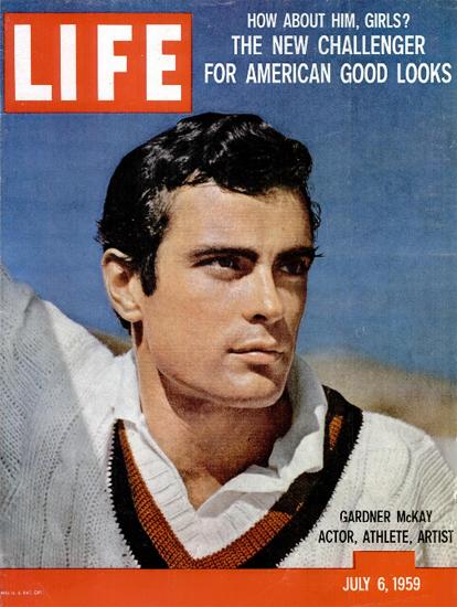 Gardner McKay Actor Athlete Artist 6 Jul 1959 Copyright Life Magazine   Life Magazine Color Photo Covers 1937-1970