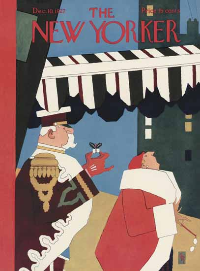 Gardner Rea The New Yorker 1927_12_10 Copyright | The New Yorker Graphic Art Covers 1925-1945