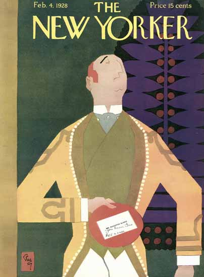 Gardner Rea The New Yorker 1928_02_04 Copyright | The New Yorker Graphic Art Covers 1925-1945