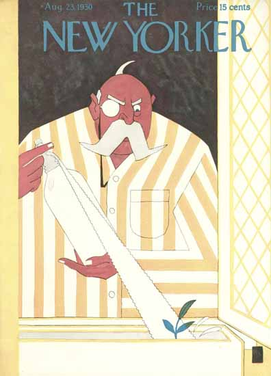 Gardner Rea The New Yorker 1930_08_23 Copyright | The New Yorker Graphic Art Covers 1925-1945