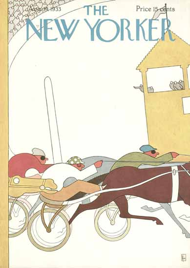 Gardner Rea The New Yorker 1933_08_19 Copyright | The New Yorker Graphic Art Covers 1925-1945