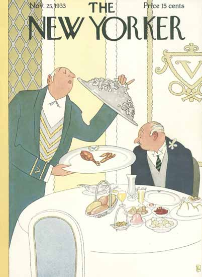 Gardner Rea The New Yorker 1933_11_25 Copyright | The New Yorker Graphic Art Covers 1925-1945