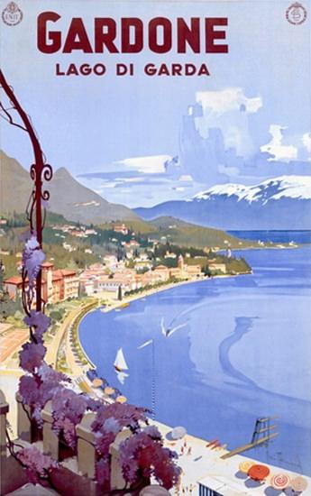 Gardone Lago Di Garda Itala | Vintage Travel Posters 1891-1970