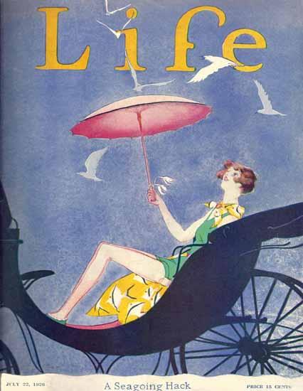 Garrett Price Life Magazine A Seagoing Hack 1926-07-22 Copyright | Life Magazine Graphic Art Covers 1891-1936