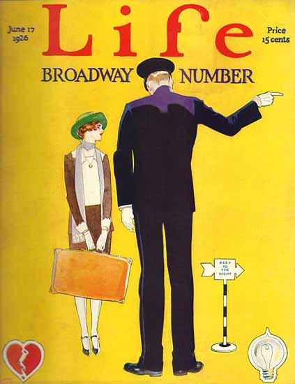Garrett Price Life Magazine Broadway 1926-06-17 Copyright | Life Magazine Graphic Art Covers 1891-1936