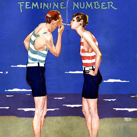 Garrett Price Life Magazine Feminine Number 1925-08-27 Copyright crop | Best of Vintage Cover Art 1900-1970