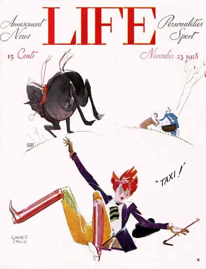 Garrett Price Life Magazine Taxi 1928-11-23 Copyright | Life Magazine Graphic Art Covers 1891-1936