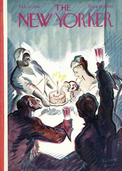Garrett Price The New Yorker 1934_02_24 Copyright | The New Yorker Graphic Art Covers 1925-1945