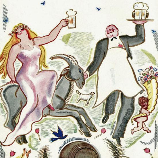 Garrett Price The New Yorker 1935_03_30 Copyright crop | Best of Vintage Cover Art 1900-1970