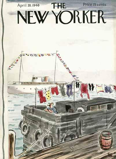 Garrett Price The New Yorker 1940_04_20 Copyright | The New Yorker Graphic Art Covers 1925-1945