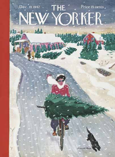 Garrett Price The New Yorker 1942_12_19 Copyright   The New Yorker Graphic Art Covers 1925-1945