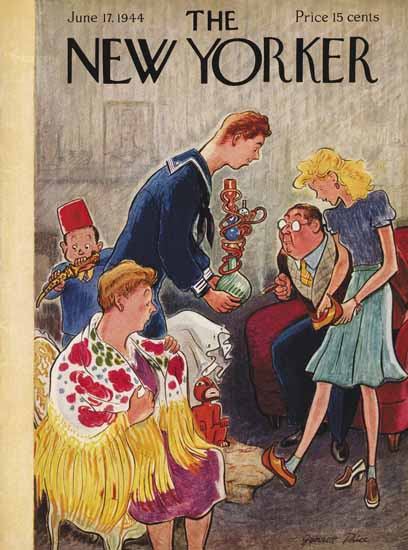 Garrett Price The New Yorker 1944_06_17 Copyright | The New Yorker Graphic Art Covers 1925-1945