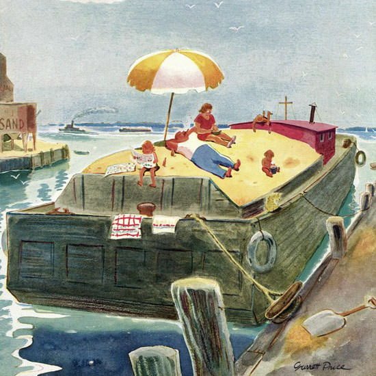 Garrett Price The New Yorker 1948_08_07 Copyright crop | Best of Vintage Cover Art 1900-1970