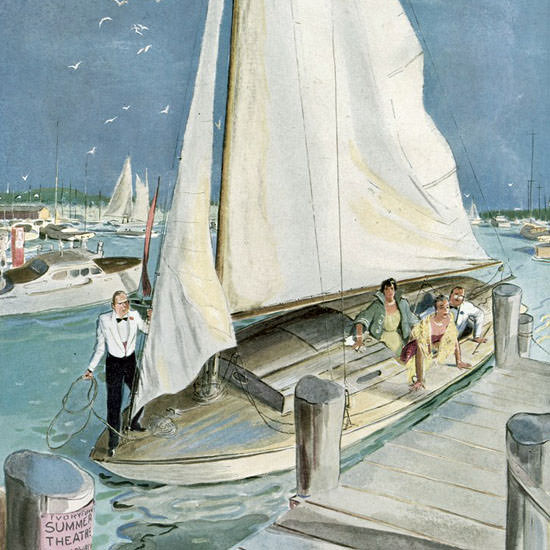 Garrett Price The New Yorker 1950_07_22 Copyright crop | Best of Vintage Cover Art 1900-1970