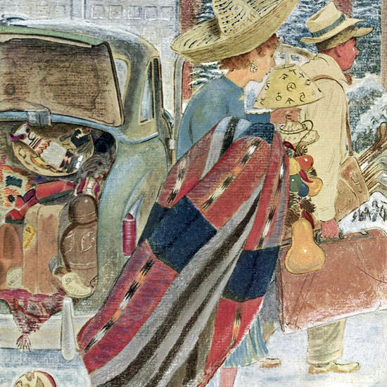 Garrett Price The New Yorker 1953_01_31 Copyright crop | Best of Vintage Cover Art 1900-1970
