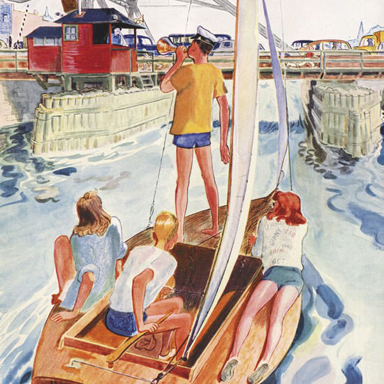 Garrett Price The New Yorker 1954_08_07 Copyright crop | Best of Vintage Cover Art 1900-1970
