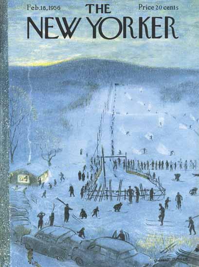 Garrett Price The New Yorker 1956_02_18 Copyright   The New Yorker Graphic Art Covers 1946-1970