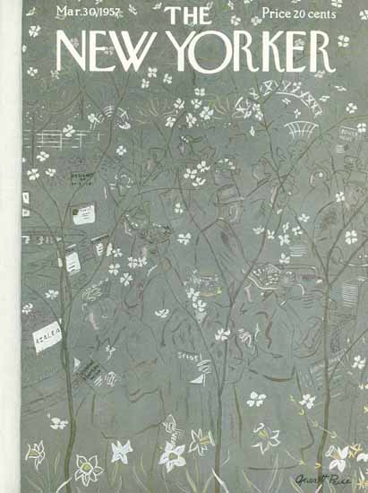 Garrett Price The New Yorker 1957_03_30 Copyright | The New Yorker Graphic Art Covers 1946-1970