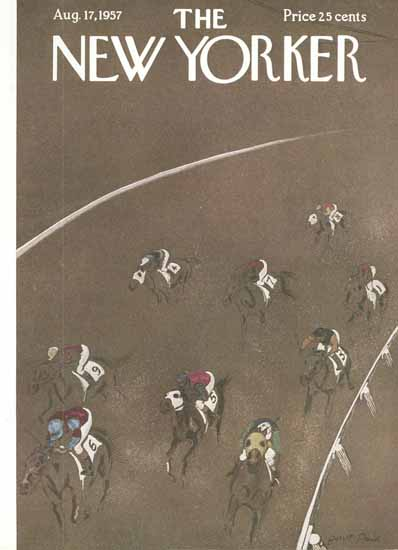 Garrett Price The New Yorker 1957_08_17 Copyright | The New Yorker Graphic Art Covers 1946-1970