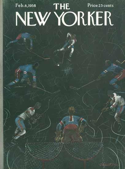 Garrett Price The New Yorker 1958_02_08 Copyright | The New Yorker Graphic Art Covers 1946-1970