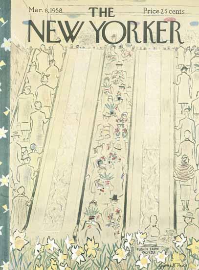 Garrett Price The New Yorker 1958_03_08 Copyright   The New Yorker Graphic Art Covers 1946-1970