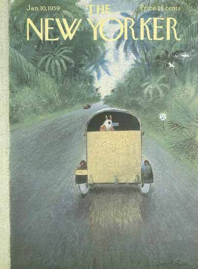 Garrett Price The New Yorker 1959_01_10 Copyright | The New Yorker Graphic Art Covers 1946-1970