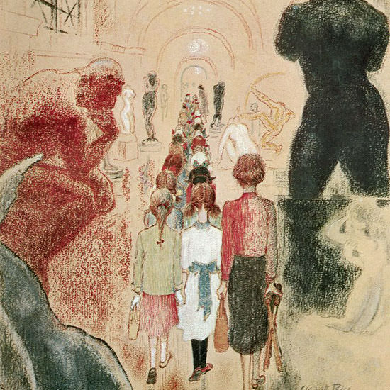 Garrett Price The New Yorker 1959_11_14 Copyright crop | Best of Vintage Cover Art 1900-1970