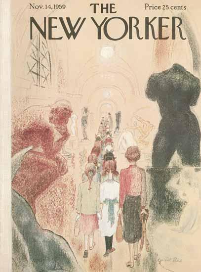 Garrett Price The New Yorker 1959_11_14 Copyright   The New Yorker Graphic Art Covers 1946-1970