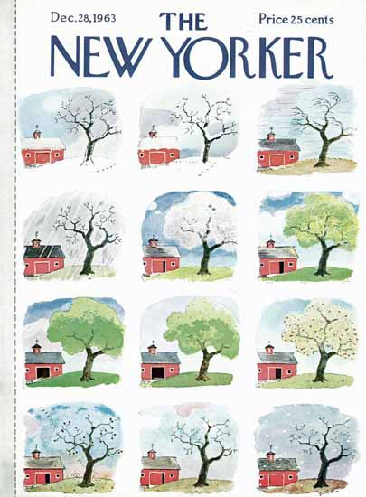 Garrett Price The New Yorker 1963_12_28 Copyright | The New Yorker Graphic Art Covers 1946-1970