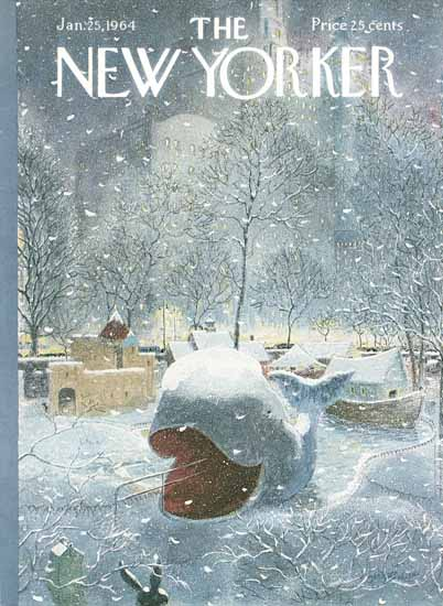 Garrett Price The New Yorker 1964_01_25 Copyright   The New Yorker Graphic Art Covers 1946-1970