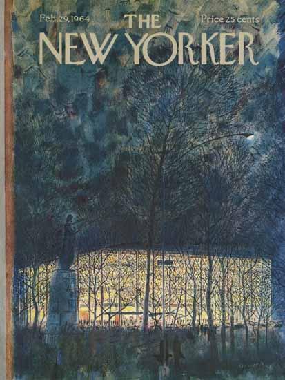 Garrett Price The New Yorker 1964_02_29 Copyright   The New Yorker Graphic Art Covers 1946-1970