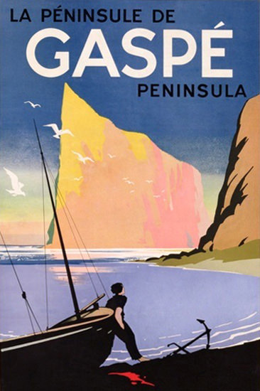Gaspe Peninsula Quebec Canada 1938 | Vintage Travel Posters 1891-1970