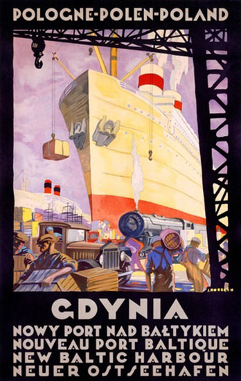 Gdynia Poland New Baltic Harbour | Vintage Travel Posters 1891-1970