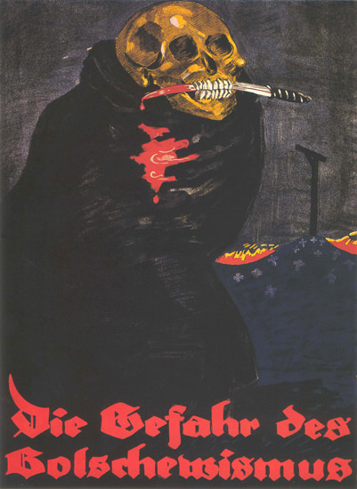 Gefahr Des Bolschewismus Germany Bolshevism | Vintage War Propaganda Posters 1891-1970