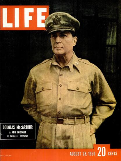 General Douglas MacArthur 28 Aug 1950 Copyright Life Magazine | Life Magazine Color Photo Covers 1937-1970