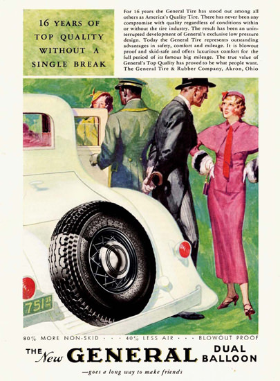 General Dual Balloon Tire 1933 | Sex Appeal Vintage Ads and Covers 1891-1970