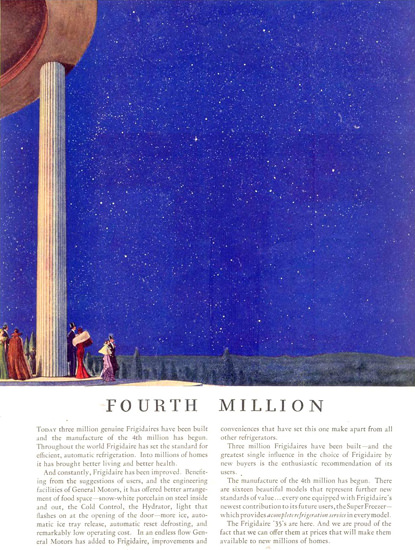 General Motors Frigidaire Fourth Million 1935 | Vintage Ad and Cover Art 1891-1970