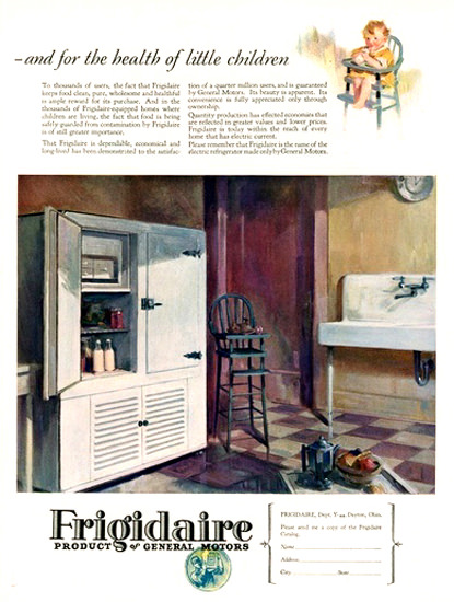 General Motors Frigidaire | Vintage Ad and Cover Art 1891-1970