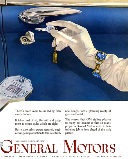 General Motors GM Key 1949 | Sex Appeal Vintage Ads and Covers 1891-1970