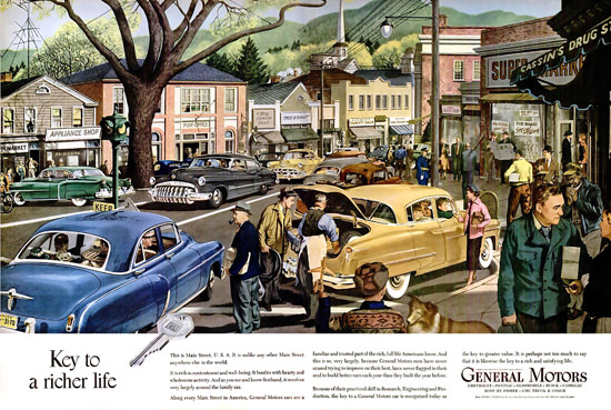 General Motors Key To Richer Life Wide | Vintage Cars 1891-1970